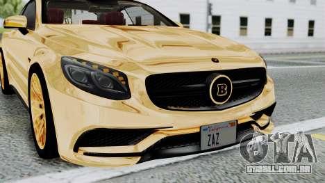 Brabus 850 Gold para vista lateral GTA San Andreas