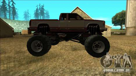 New Yosemite v2 Monster para GTA San Andreas vista interior