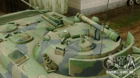 CoD 4 MW 2 BMP-2 Woodland para GTA San Andreas vista direita