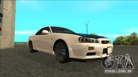 Nissan Skyline R34 Drift para GTA San Andreas vista direita