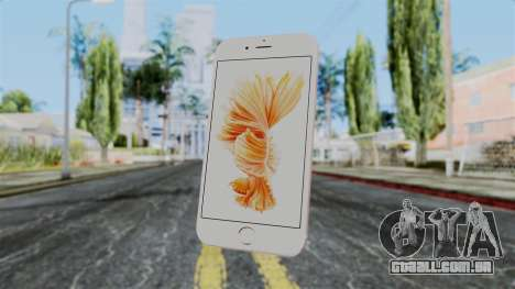 iPhone 6S Rose Gold para GTA San Andreas terceira tela