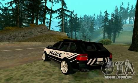 Porsche Cayenne Turbo S Federal Police para GTA San Andreas esquerda vista