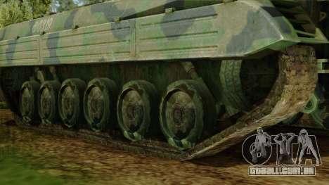 CoD 4 MW 2 BMP-2 Woodland para GTA San Andreas traseira esquerda vista