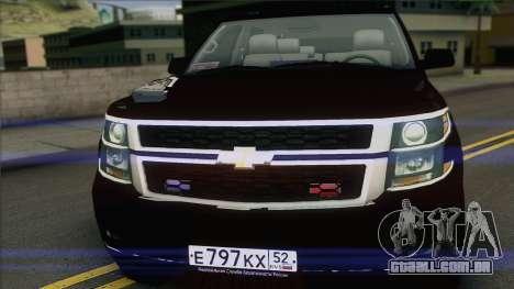 Chevrolet Exterior FSB para GTA San Andreas traseira esquerda vista