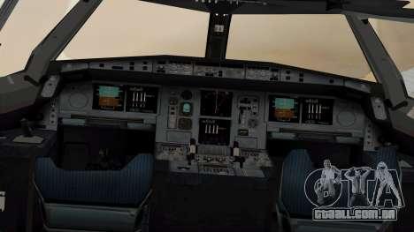 Airbus A380-861 Air India para GTA San Andreas vista traseira