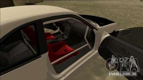 Nissan Skyline R33 Drift para GTA San Andreas traseira esquerda vista
