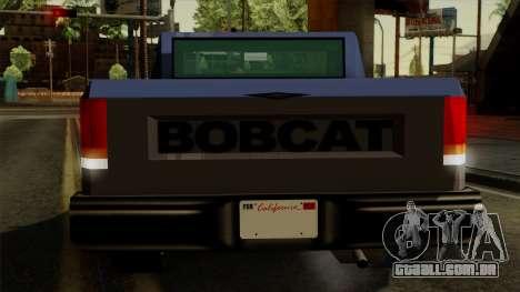 Bobcat from Vice City Stories IVF para GTA San Andreas vista inferior