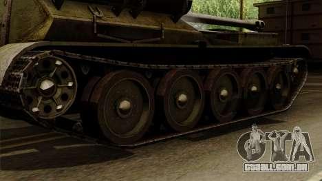 SU-101 122mm from World of Tanks para GTA San Andreas traseira esquerda vista