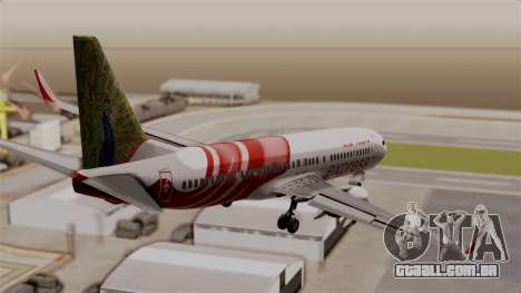 Boeing 737-800 Air India Express para GTA San Andreas esquerda vista