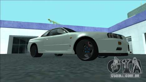 Nissan Skyline R34 Drift para GTA San Andreas vista traseira