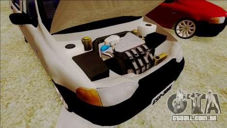 Fiat Palio EDX Turbo Performance para GTA San Andreas vista traseira
