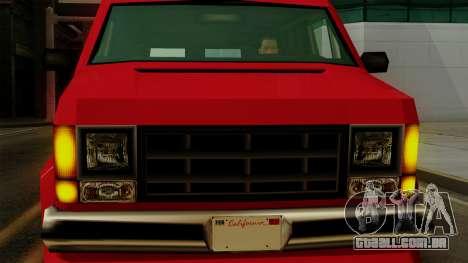 Burrito from Vice City Stories IVF para GTA San Andreas vista traseira