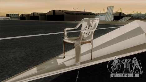Avião de papel para GTA San Andreas traseira esquerda vista