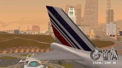Boeing 747 Air France para GTA San Andreas traseira esquerda vista