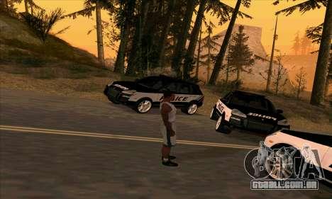 Porsche Cayenne Turbo S Federal Police para GTA San Andreas traseira esquerda vista
