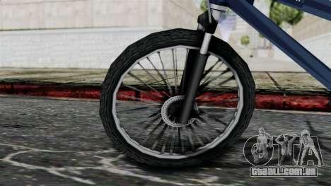 Mountain Bike from Bully para GTA San Andreas traseira esquerda vista