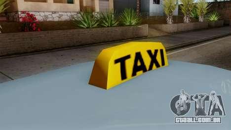 Taxi Solair para GTA San Andreas traseira esquerda vista