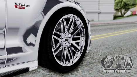 Brabus 850 Chrome para GTA San Andreas traseira esquerda vista
