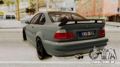 BMW M3 E46 GTR 2005 Stock para GTA San Andreas esquerda vista