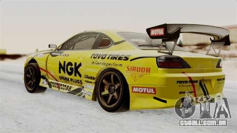 Nissan Silvia S15 RDS NGK para GTA San Andreas esquerda vista