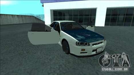 Nissan Skyline R34 Drift para o motor de GTA San Andreas