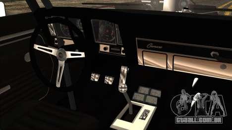 Chevrolet Camaro Drag Street para GTA San Andreas vista traseira