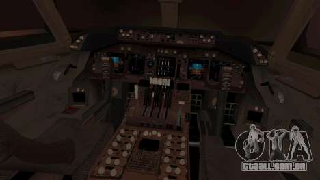 Boeing 747 Air France para GTA San Andreas vista interior