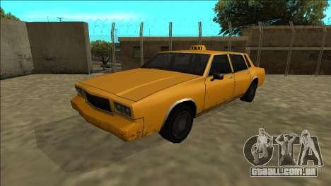 Tahoma Taxi para GTA San Andreas traseira esquerda vista