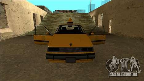 Willard Taxi para GTA San Andreas interior
