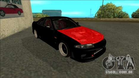 Nissan Skyline R33 Monster Energy para GTA San Andreas esquerda vista