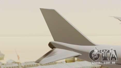 Boeing 747 Template para GTA San Andreas traseira esquerda vista