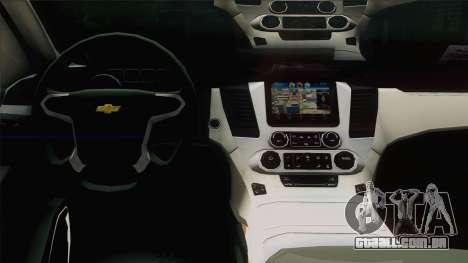 Chevrolet Exterior FSB para GTA San Andreas vista interior
