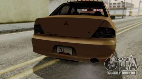 Mitsubishi Lancer Evolution IX MR 2006 para GTA San Andreas interior