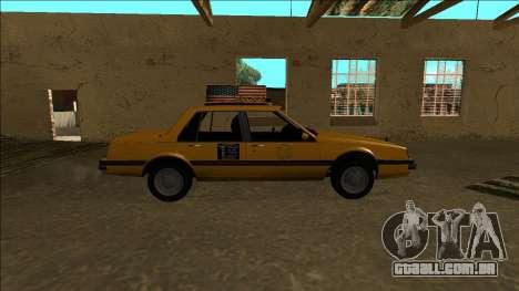 Willard Taxi para GTA San Andreas vista interior