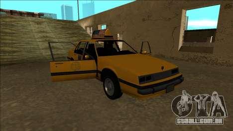 Willard Taxi para o motor de GTA San Andreas