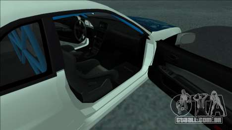 Nissan Skyline R34 Drift para vista lateral GTA San Andreas