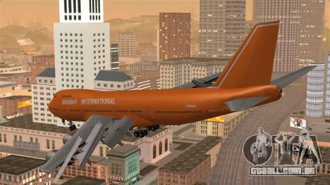 Boeing 747 Braniff para GTA San Andreas esquerda vista