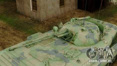 CoD 4 MW 2 BMP-2 Woodland para GTA San Andreas vista traseira