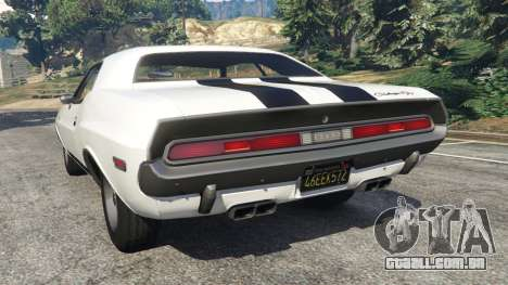 GTA 5 Dodge Challenger RT 440 1970 v1.0 traseira vista lateral esquerda