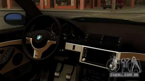 BMW M5 E39 Bucharest para GTA San Andreas vista direita
