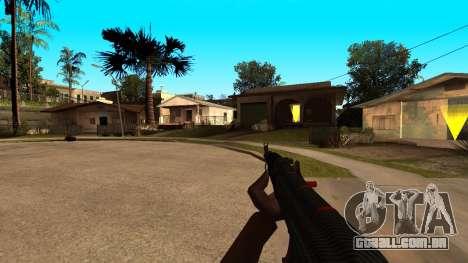 AK-47 Linha Vermelha do CS:GO para GTA San Andreas por diante tela