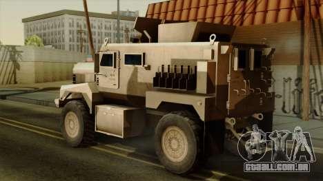 MRAP Cougar 4x4 para GTA San Andreas esquerda vista