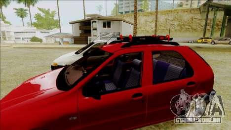 Fiat Palio EDX Turbo Performance para GTA San Andreas traseira esquerda vista