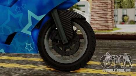 Bati VIP Star Motorcycle para GTA San Andreas traseira esquerda vista