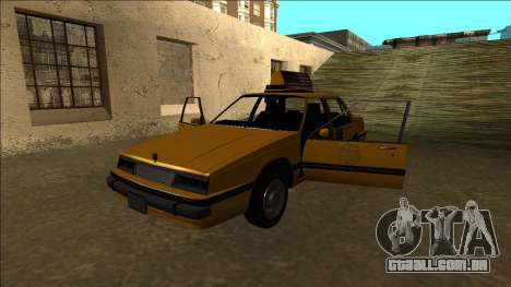 Willard Taxi para GTA San Andreas vista inferior