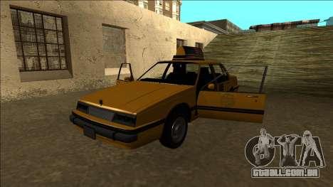 Willard Taxi para GTA San Andreas vista inferior