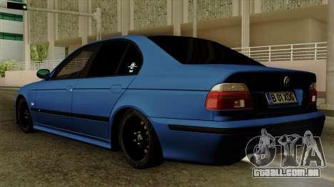 BMW M5 E39 Bucharest para GTA San Andreas esquerda vista