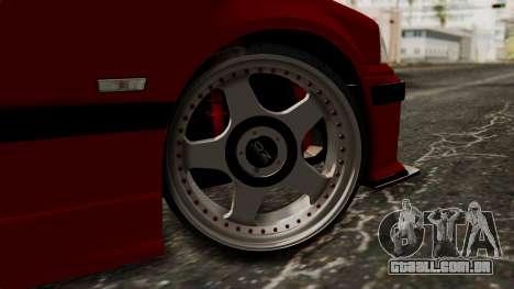 BMW M3 E36 Strike para GTA San Andreas traseira esquerda vista