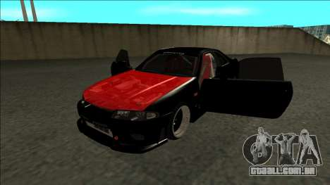 Nissan Skyline R33 Monster Energy para GTA San Andreas vista traseira