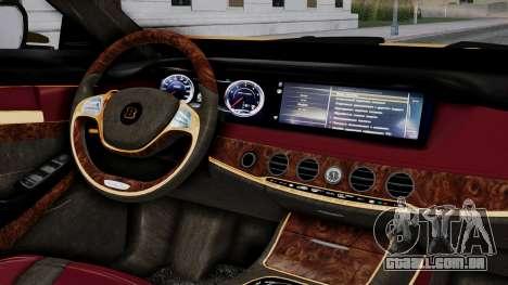 Brabus 850 Gold para GTA San Andreas vista direita